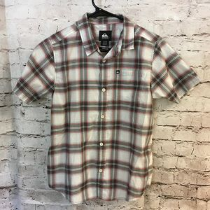 Boys button down quiksilver shirt